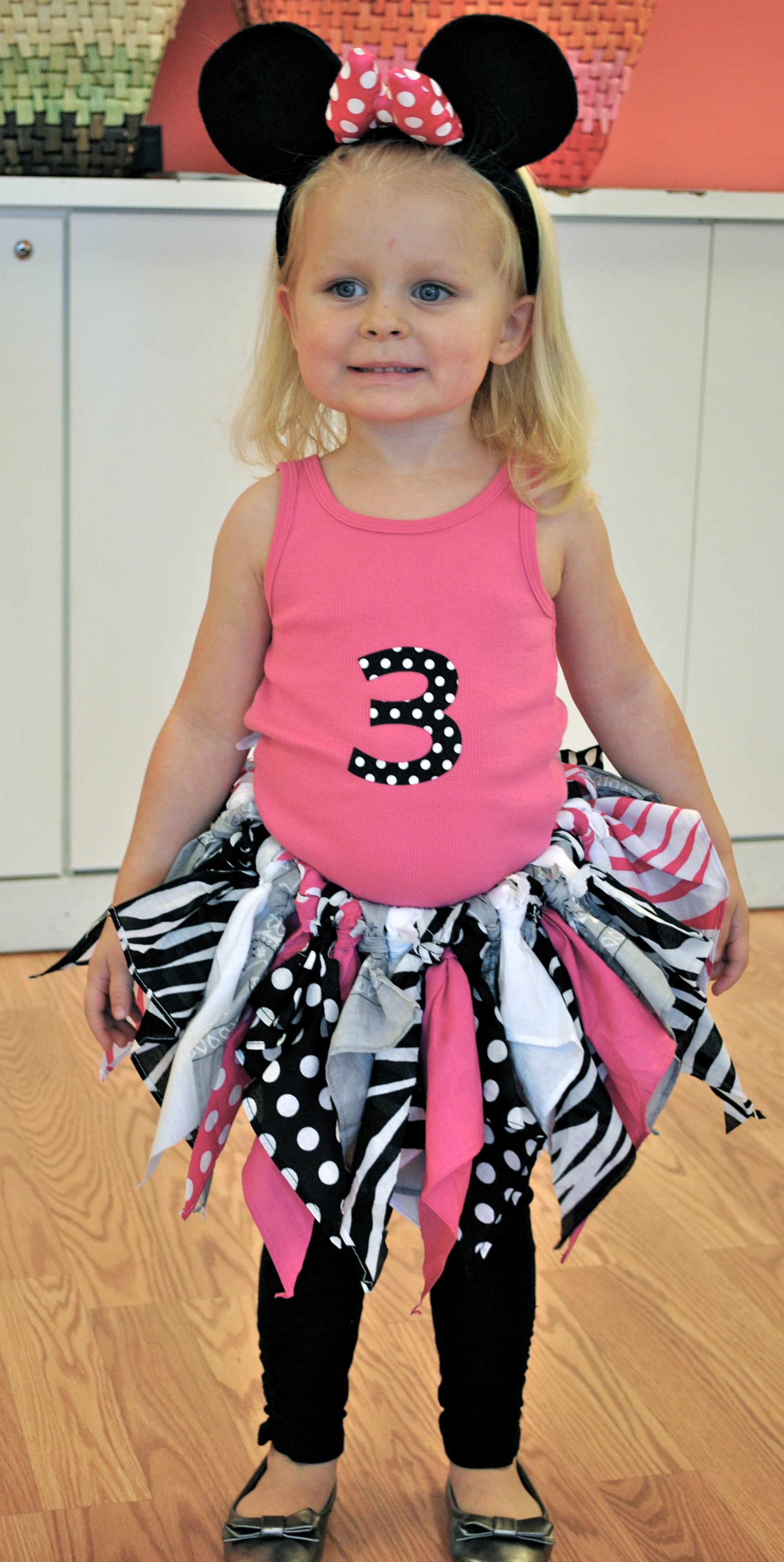 Project Day 52 Get Crafty Morgans 3rd Birthday Party T Shirt DIY Minnie Mouse