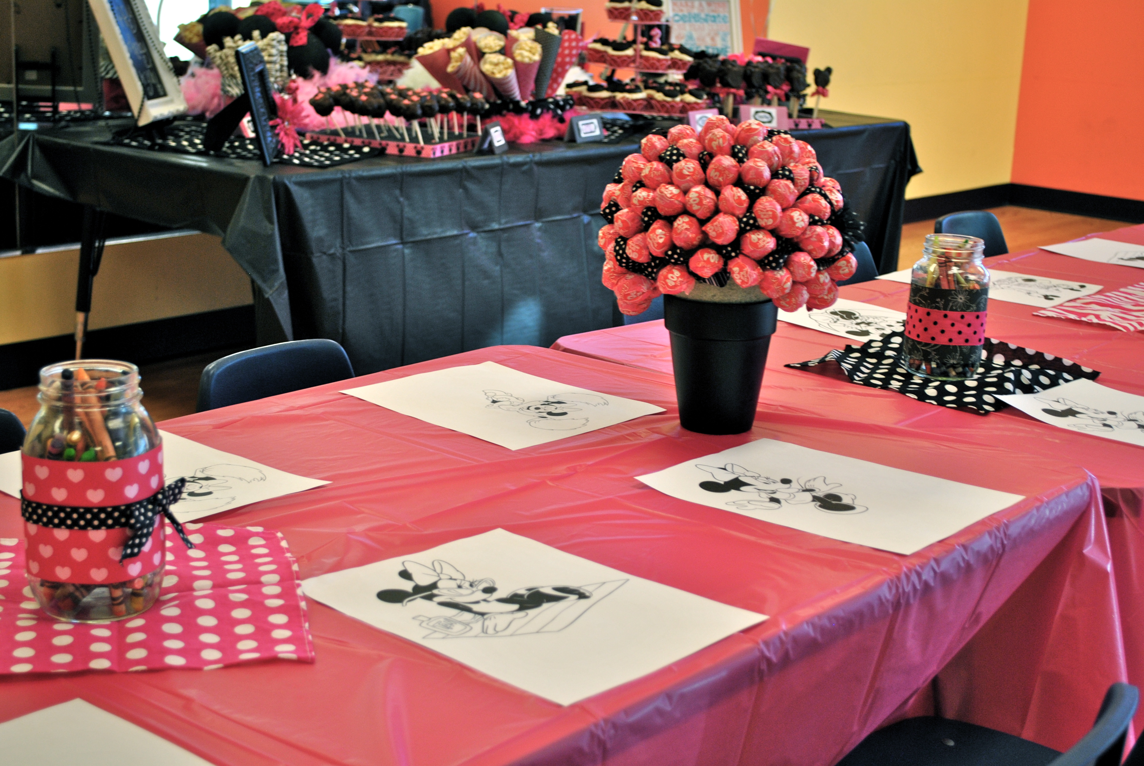 Project Day 54 Get Crafty Minnie Mouse Birthday Decor Craft
