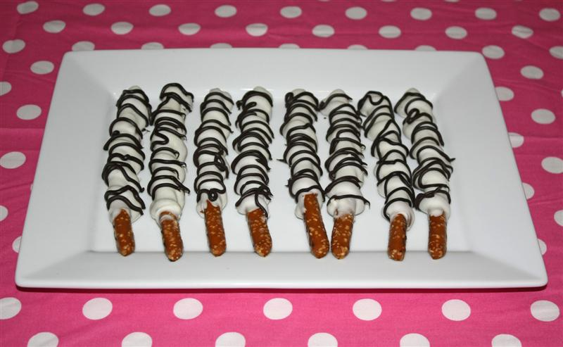 Day 64 Baking Away Chocolate And Caramel Zebra Pretzels For Our