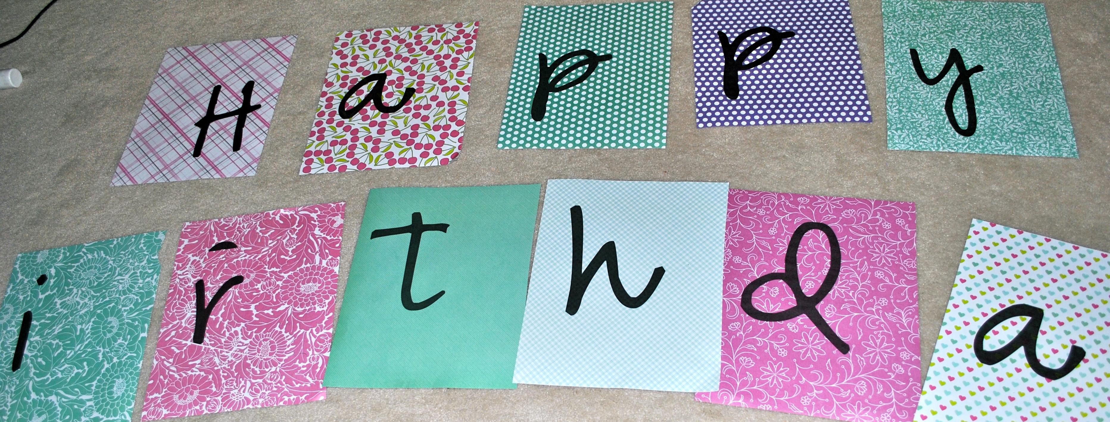 Day 94 Crafty Kiddo Diy Printable Happy Birthday Banner For