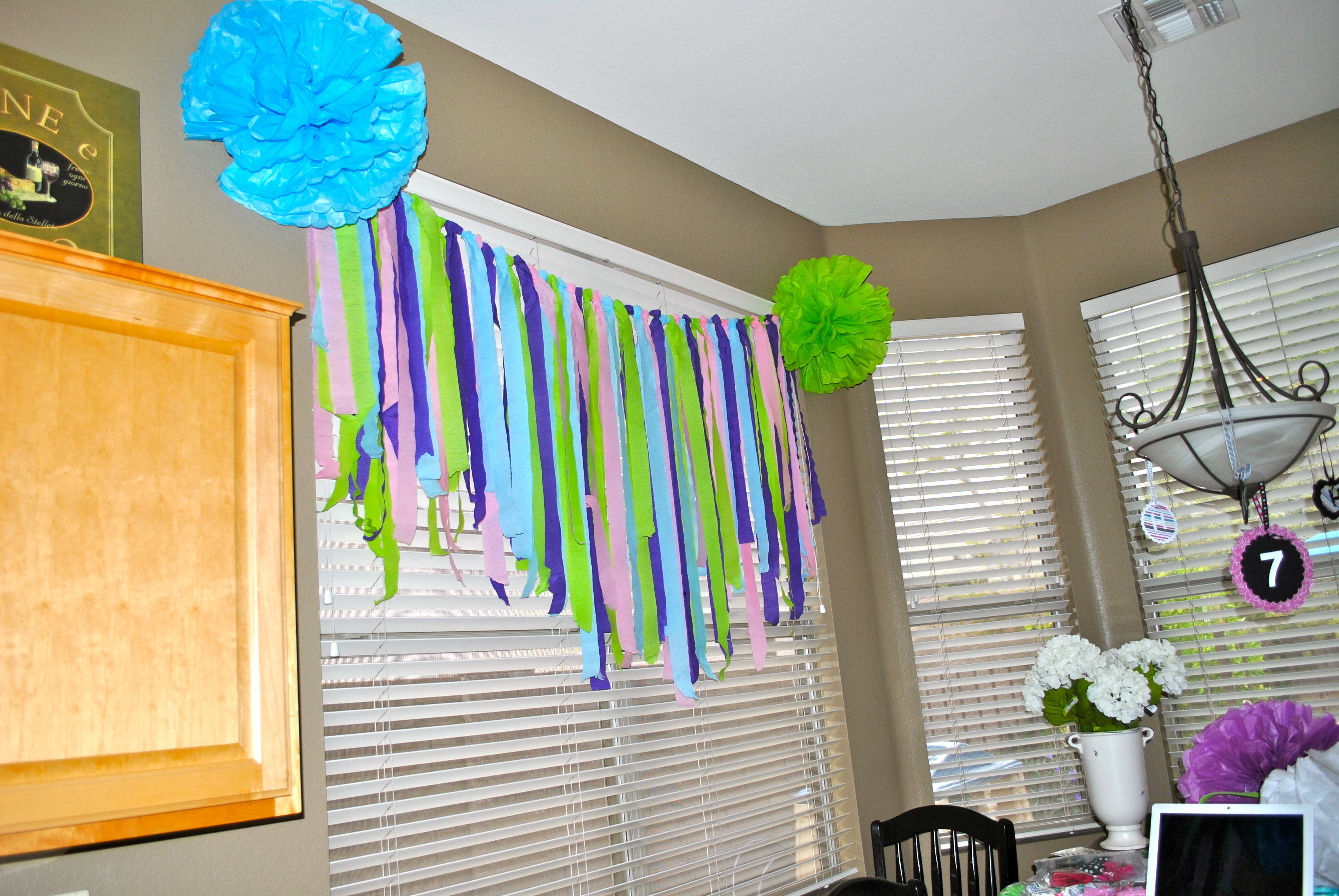 Day 134 get crafty spa sleepover party decorations - Birthday decorations with crepe paper ...