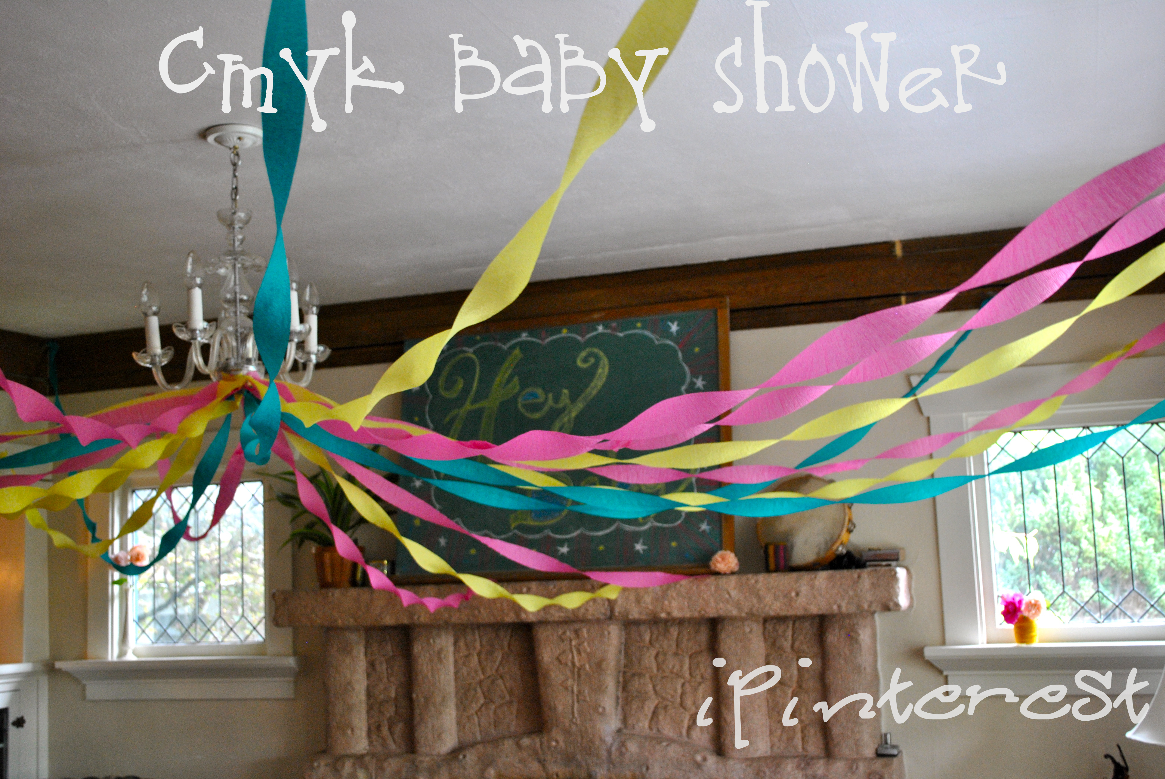 CMYK Inspired Baby Shower part 1 Make it Monday Crepe Paper